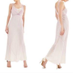 Dresses & Skirts - Topshop Purple Silk Crinkle Dress with Slip